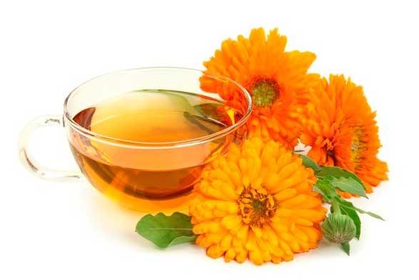 Лекарственный настой с календулой и цветы