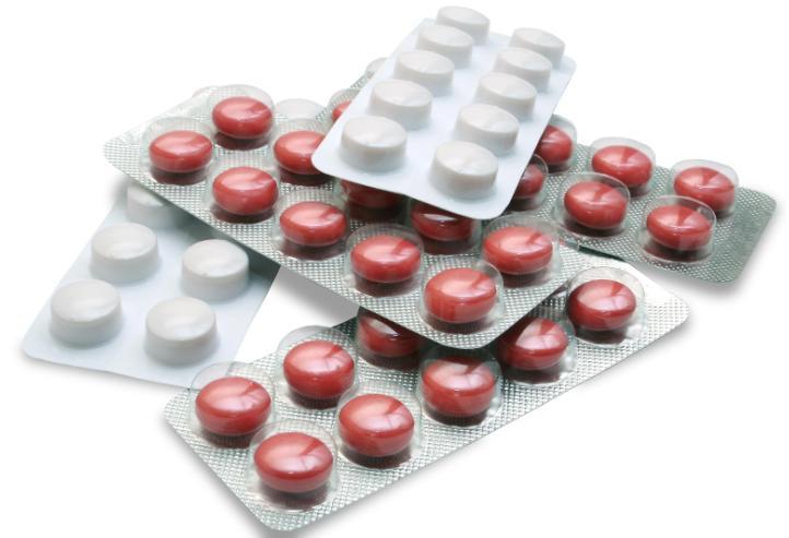 Несколько упаковок таблеток в конвалюте
